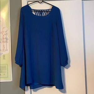 Blue dress great for a night out or a wedding